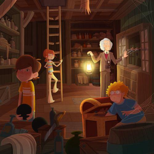 children in scientist lab