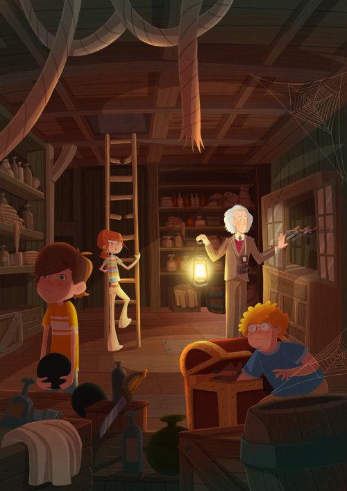 enfants dans un laboratoire scientifique