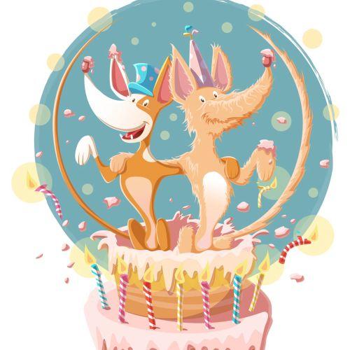 children illustration Animal birthday
