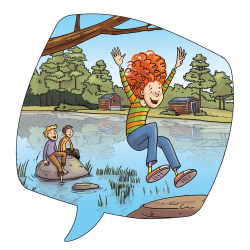 Children illustration kids enjoying