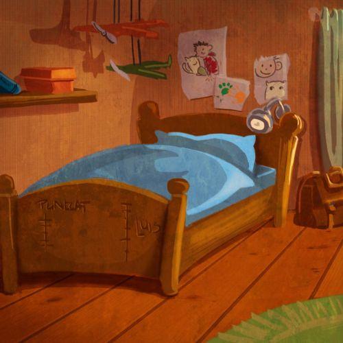 children illustration kids bedroom