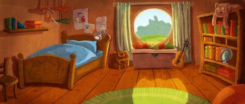illustration des enfants chambre des enfants