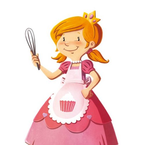 Character design of cooking lady