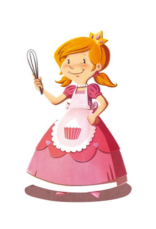 Diseño de personajes de señora cocina