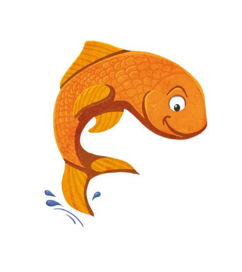 Conception de personnage poisson d'or
