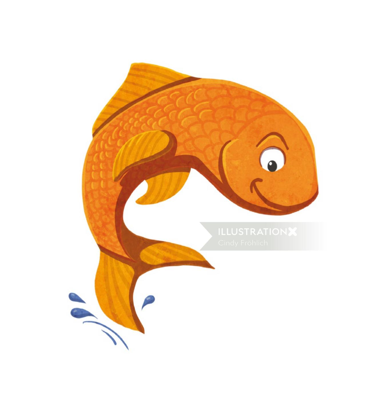 Character design gold fish