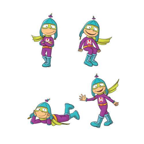 Character design of Super hero M