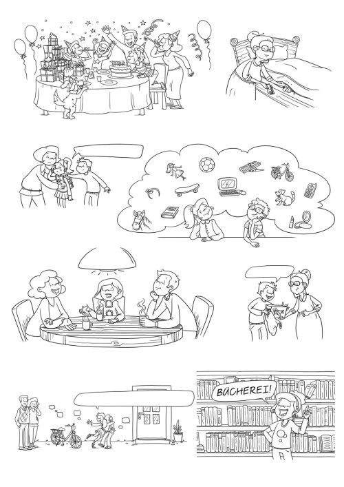 Pictogramme de dessins au trait pour enfants