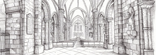 Architeture line drawing