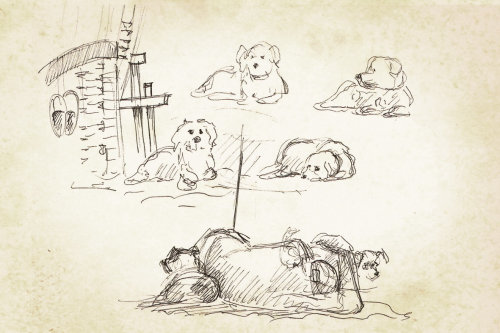 Line art of dogs