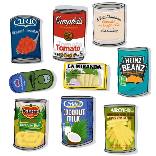 Collection of tins illustration