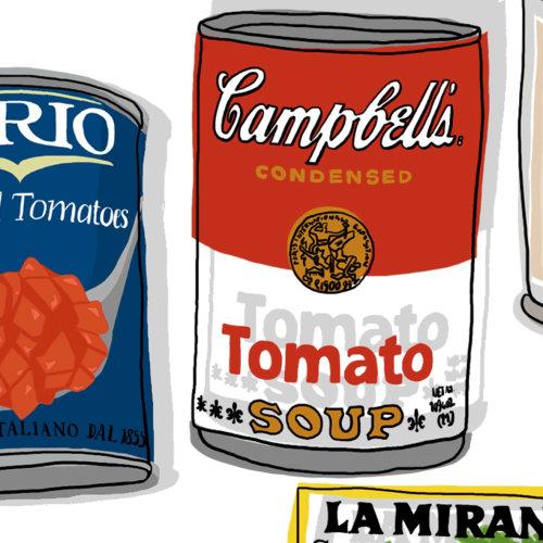 Campbell's vegetarian vegetable soup packaging
