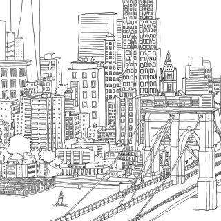 London cityscape art by Claire Rollet