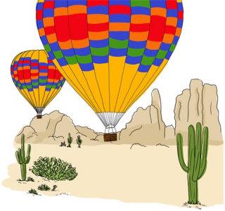 Air balloons vector drawing