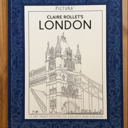 Tower bridge architectural line drawing
