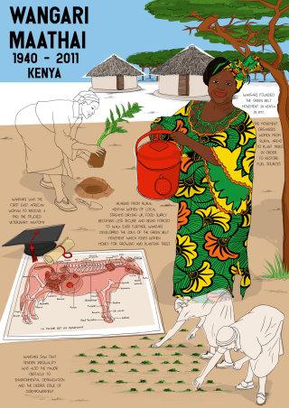Lifestyle Illustration Of Wangari Maathai