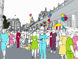 Families day out festival - Illustration by Claire Rollet