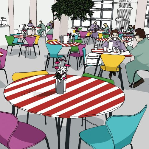 Restaurant illustration by Claire Rollet