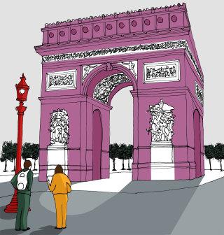 Arc de Triomphe illustration by Claire Rollet