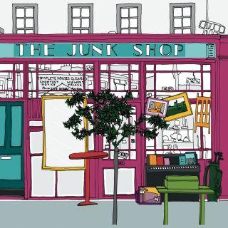 Junk shop illustration by Claire Rollet