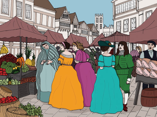Street Scene illustration by Claire Rollet