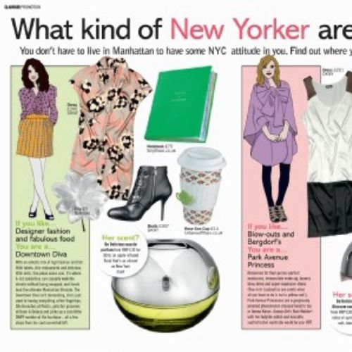Women fashion New York, illustration by Claire Rollet