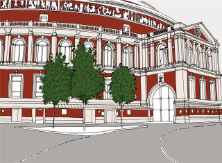Royal albert hall concert illustration by Claire Rollet
