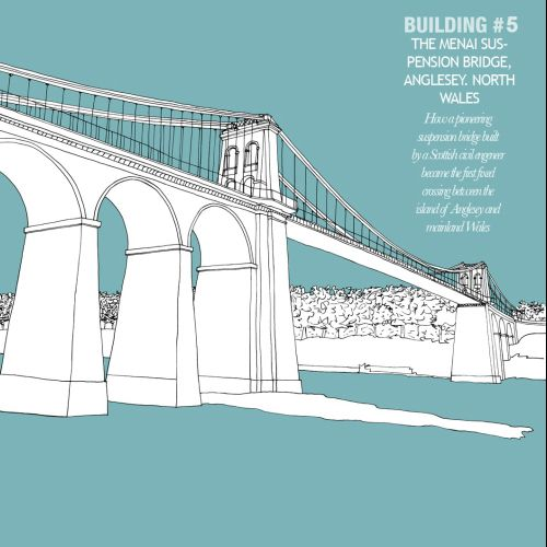 Menai bridge illustration by Claire Rollet