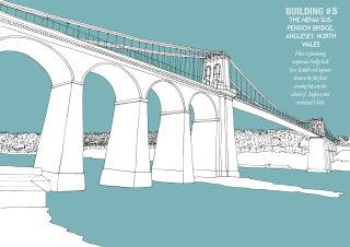Menai bridge illustration by Claire Rollet