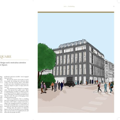Hanover square offices illustration by Claire Rollet