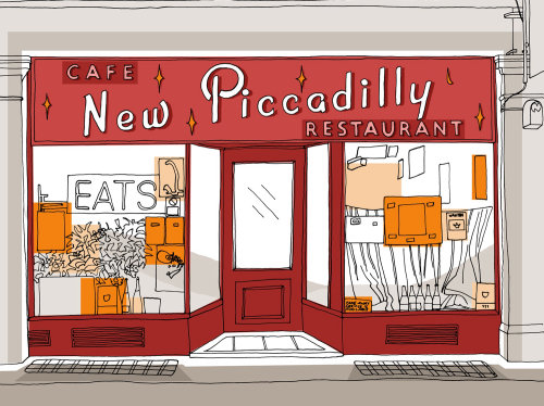 Nouvelle illustration Piccadilly par Claire Rollet
