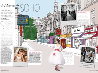 Soho wedding location illustration by Claire Rollet