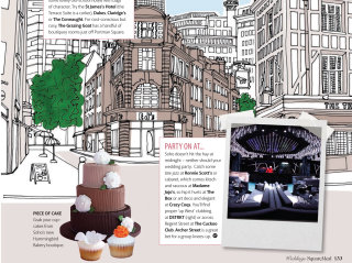 Modern city illustration by Claire Rollet