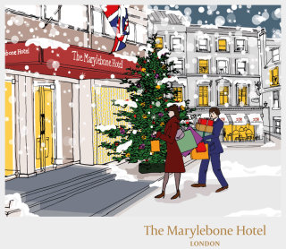 Christmas season illustration by Claire Rollet