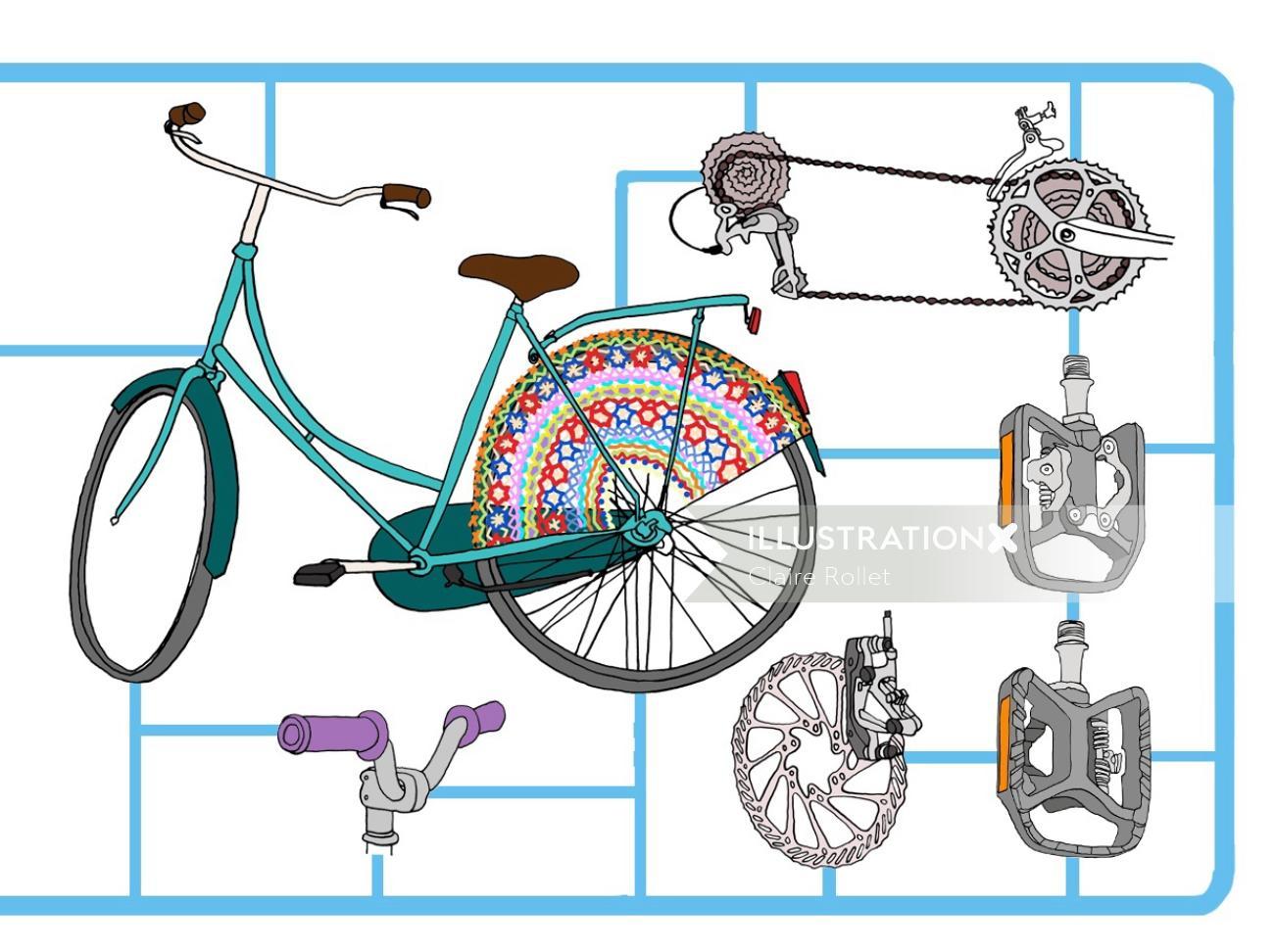 'Fix your bike' book illustration