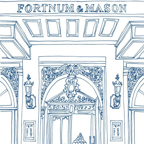 Line Drawing Of Fortnum & Mason Shop