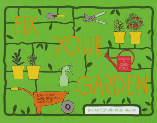 Line drawing of Fix your garden