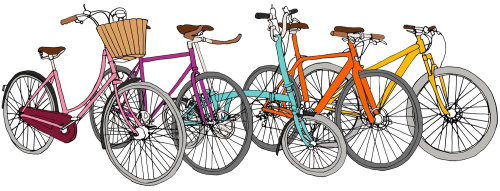 Vector design of Bicycles in line