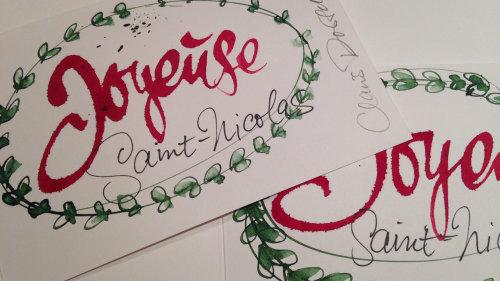 Calligraphy joyeuse