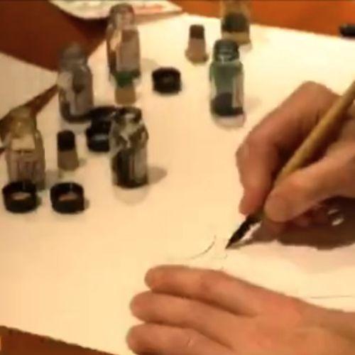 Hand drawn oil painting art