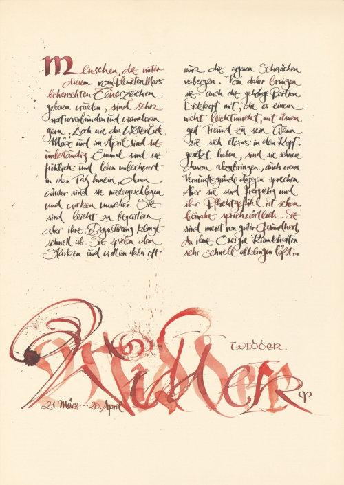 Letras soltas no papel