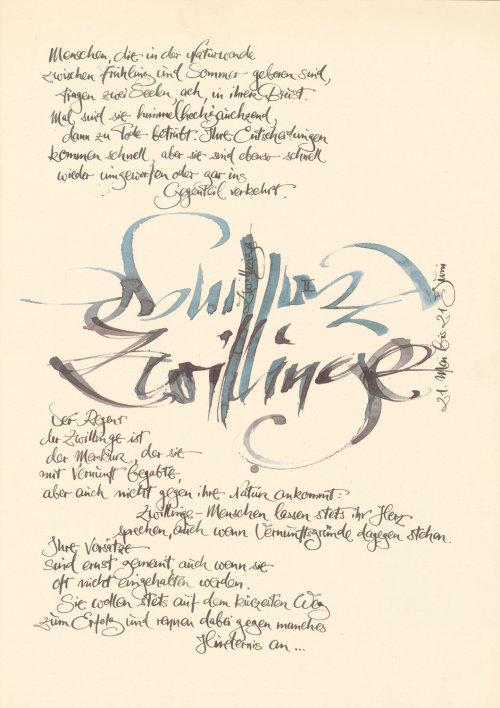 Letras soltas em papel velho