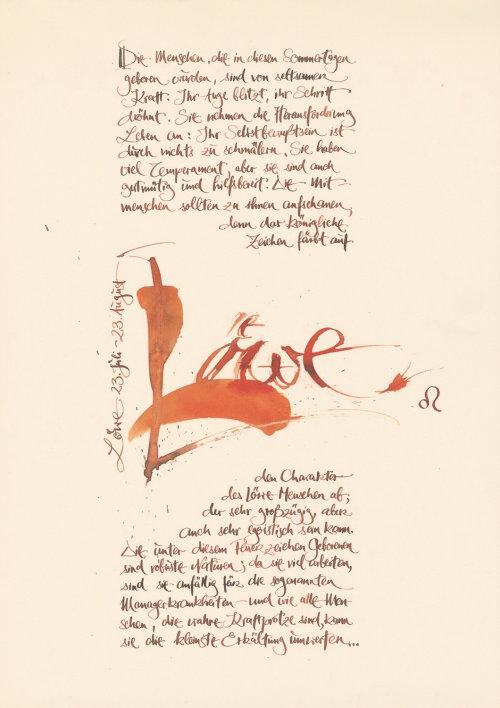 Loose lettering  lawe