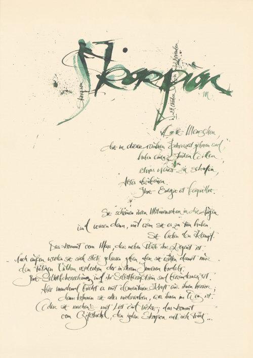 Letras soltas de Skorpion