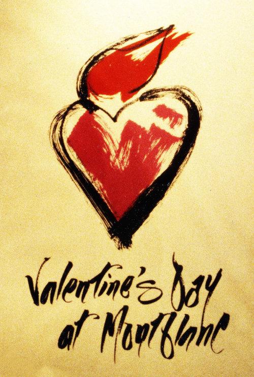 Letras do Dia dos Namorados na mountblanc