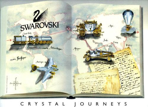 Maps Lettering Swarovski