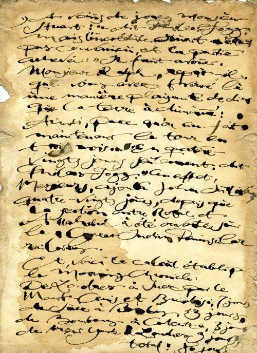 Carta histórica de caligrafia