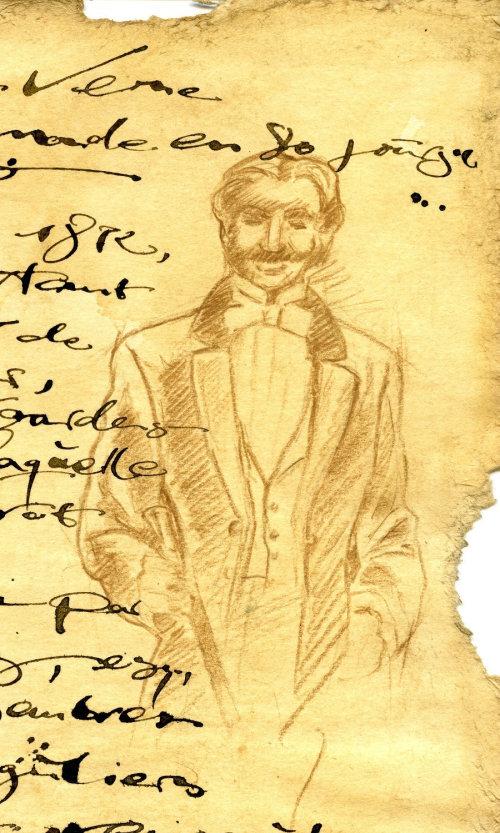 Letras em um papel velho