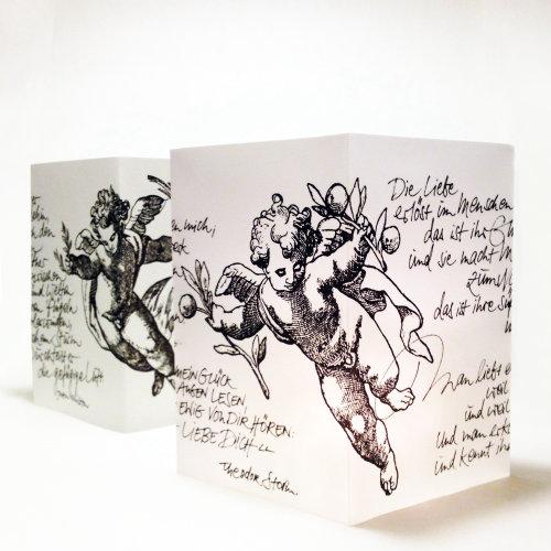 Letras de anjo de ilustração de linha gráfica