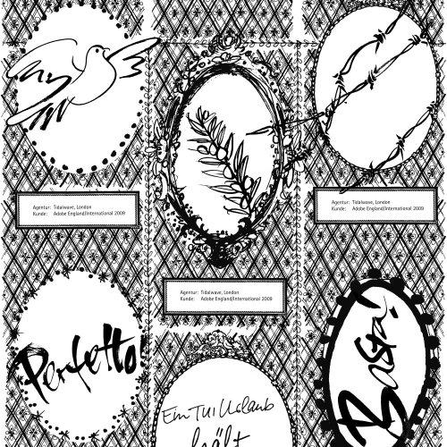 Colagem gráfica de letras